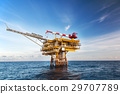 Oil and gas platform in the gulf or the sea, 29707789