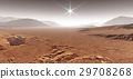 Martian landscape with sand dunes. 3D illustration 29708268