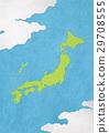 map of japan, japanese paper, washi paper 29708555
