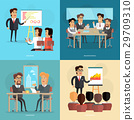 Business Meeting and Presentation Vector Poster 29709310