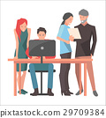 Teamwork and Startup Discussions Illustration 29709384