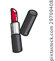 Classic Red Glossy Lipstick Isolated Illustration 29709408