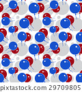 Red and Blue Party Balloon Pattern 29709805