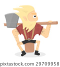 vector, cartoon, lumberjack 29709958