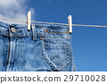 Jeans on a clothesline 29710028