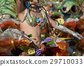 A woman in costume dancing on carnival 29710033