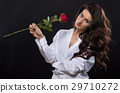 red, rose, woman 29710272