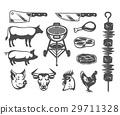 barbecue, icon, vector 29711328
