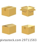 set of packing box in brown vector 29711563