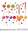 Collection of lollipops with a variety designs. 29712503
