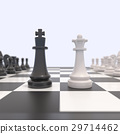 Two chess pieces on a chessboard 29714462