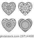 Doodle Hearts Set 29714468