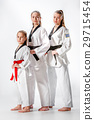 The studio shot of group of women posing as karate 29715454