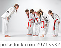 white, kids, karate 29715532
