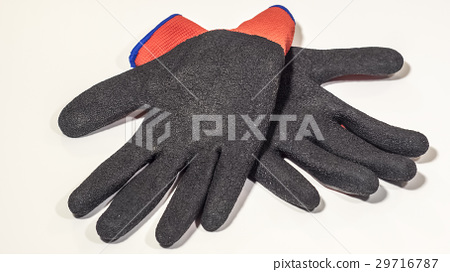 Work gloves closeup on a white background 29716787