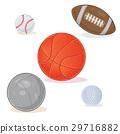 Set of sports balls isolated on white 29716882
