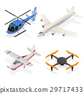 Air Crafts Set Isometric View. Vector 29717433