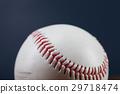 Baseball ball on wooden table 29718474