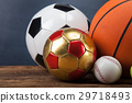 Sports accessories. paddles, sticks, balls 29718493