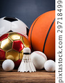 Sports accessories. paddles, sticks, balls  29718499