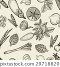 vegetables seamless pattern. 29718820