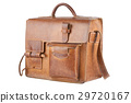 Old Brown Shoulder bag, isolated 29720167