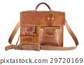 Old Brown Shoulder bag, isolated 29720169