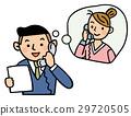 ビジネスシーン お客様にTELするビジネスマン 29720505