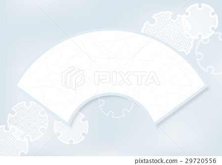 Fan and snow ring pattern background material 29720556