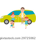 Family to go out with a car 29725062