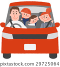 Family to go out with a car 29725064