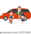 Family to go out with a car 29725065