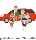 Family to go out with a car 29725066