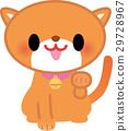 귀여운 고양이 장식물 귀여운 29728967