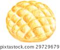 melon, bread, danish 29729679