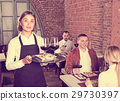 Female, waiter, restaurant 29730397