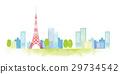 東京地平線水彩例證 29734542