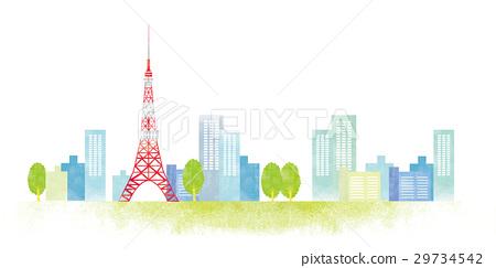 东京 市容 水彩画 29734542