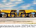 Coal mining truck on parking rod. 29734767