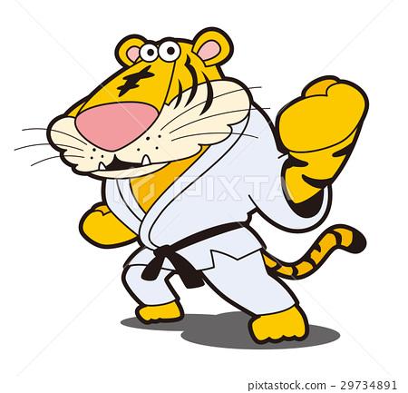 Tiger's karate, tiger character, tiger, tiger, karate, fighting sports 29734891