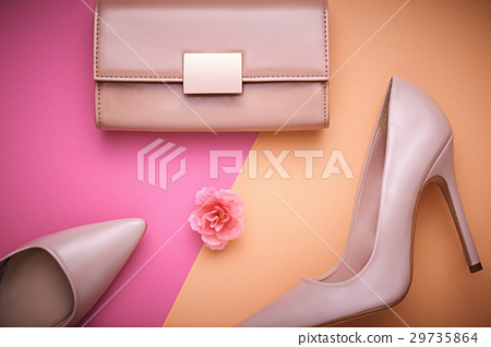 Fashion Design Woman Accessories Set. Minimal. Art 29735864