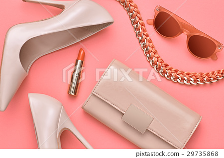 Fashion Design Woman Accessories Set. Minimal. Art 29735868