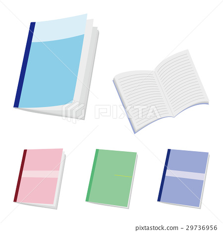 notebook, college notebook, white background 29736956