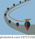 vector idea POI on road flat design 29737208