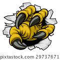 Cartoon Eagle Claw Hole 29737671