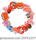 海鮮 魚 向量 29741257