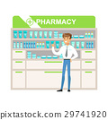 Man Manager In Pharmacy Choosing And Buying Drugs 29741920