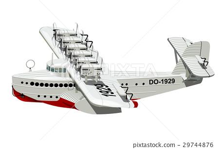 Cartoon Retro Sea Plane 29744876
