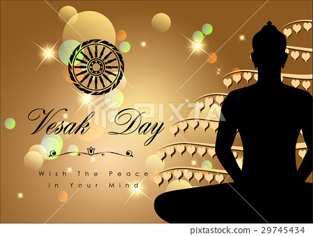 Abstract of Vesak Day, The Meditation Day. Vector. 29745434