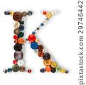 Buttons alphabet  - letter K - 29746442